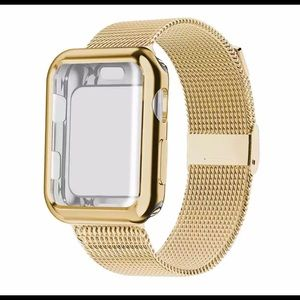 Apple Watch Band 44mm Gold Milanese Loop